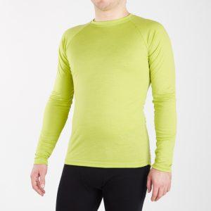 Pánske funkčné merino tričko - limeta