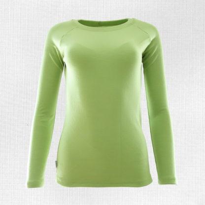 Dámske merino tričko Lehota limetková zelená