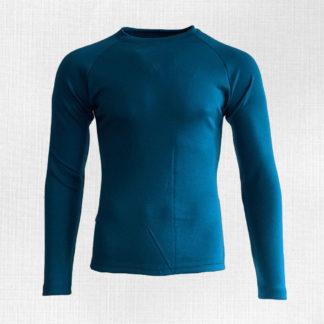 Pánske merino tričko Liesek petrolejovo modré