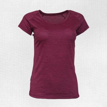 Dámske tenké tričko z merino vlny krátky rukáv