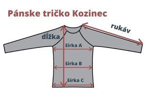 Merino tričko Kozinec - miery