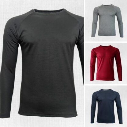 Pánske merino tričká Kriváň s dlhým rukávom