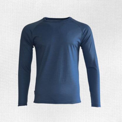 Pánske merino tričko Kriváň oceľová modrá