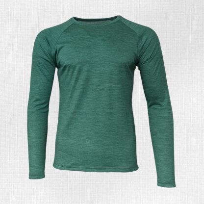 Pánske tenké merino tričko s dlhým rukávom Kriváň
