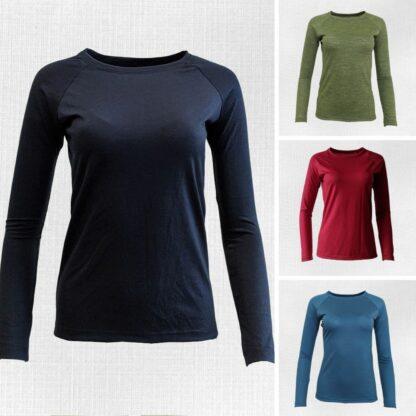 Tričká pre ženy z merina s dlhým rukávom