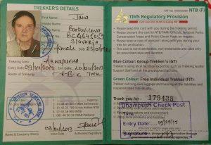 TIMS permit Nepal