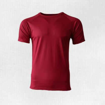 Pánske merino tričko Poltár - sýtočervená 150g