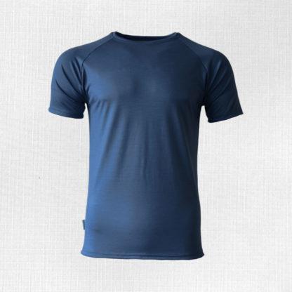 Pánske merino tričko Poltár oceľová modrá