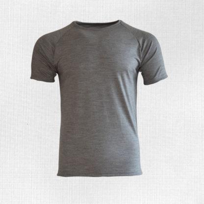 Pánske merino tričko Poltár svetlosivý melír