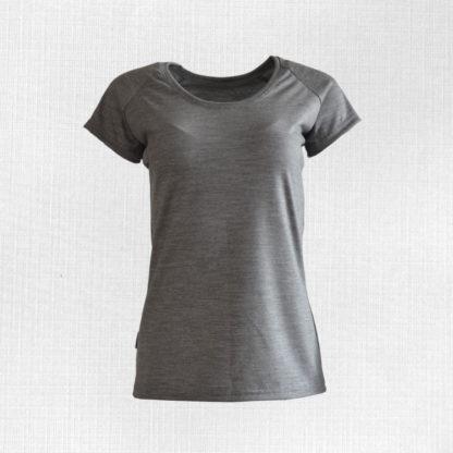 Dámske funkčné merino tričko Poruba svetlosivý melír