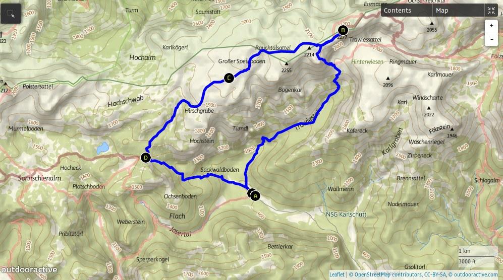 trasa Hochschwab