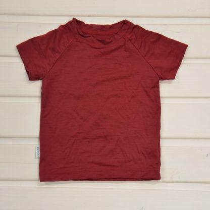 detské funkčné tričko z merino vlny červené
