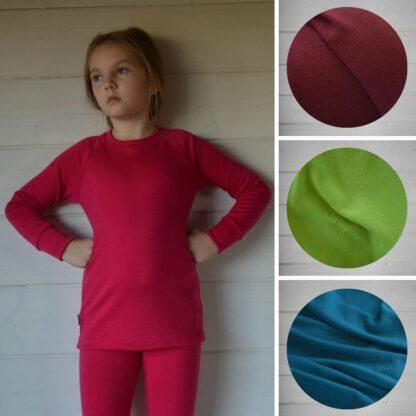Hrubšie detské termoprádlo z vlny