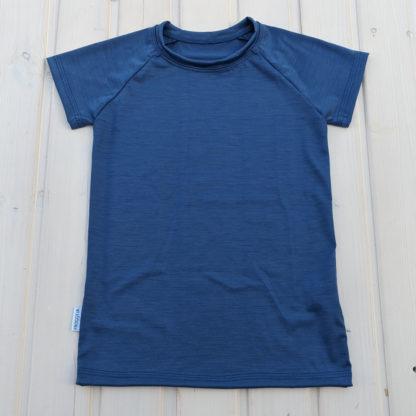 Detské merino tričko Gemer - oceľová modrá
