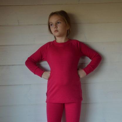 Detské merino tričko Hrádok sýtoružová