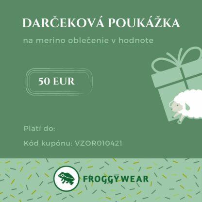 Froggywear darčeková poukážka 50 Eur