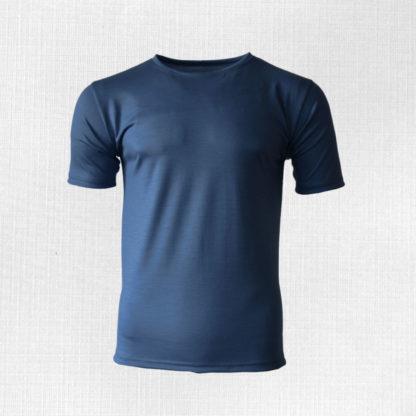 Pánske merino tričko Dargov oceľová modrá