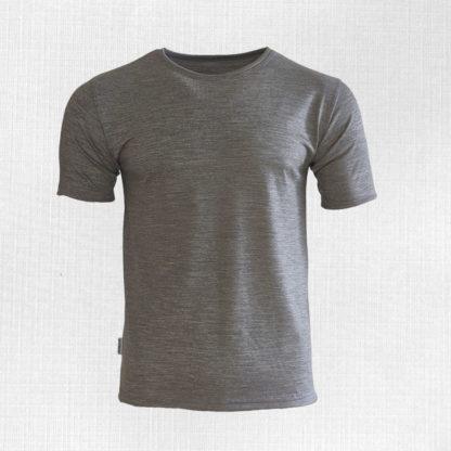 Pánske merino tričko Dargov svetlosivý melír