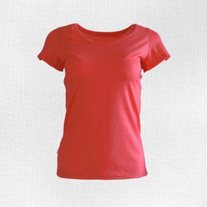 Dámske merino tričko Dedinka lososová oranžová