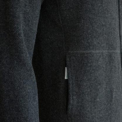 Merino mikina sivá detail