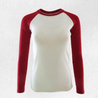 funkčné tričko Kremnica krémová-červená