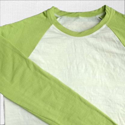 elastické funkčné tričko krémová-limetka