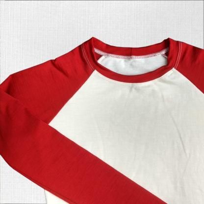 elastické funkčné tričko krémová-červená