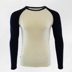 funkčné tričko Kysak krémová-čierna