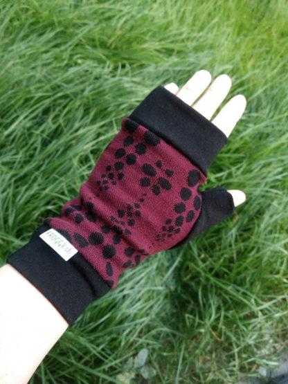 bezprstové merino rukavice