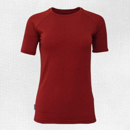 Dámske elastické tričko z merino vlny krátky rukáv