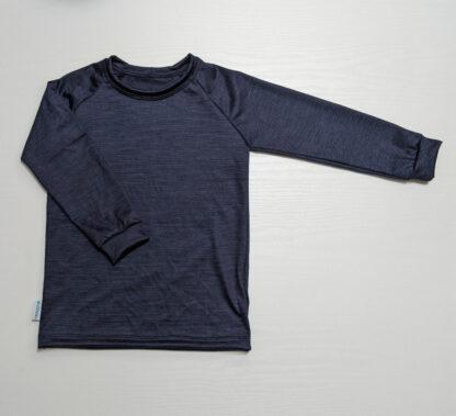 Detské merino tričko Becherov s dlhým rukávom