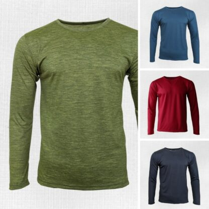 Pohodlné pánske termo tričká s dlhým rukávom