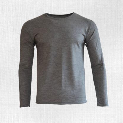 panske merino tričko limbach svetlosivy melir