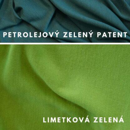 Merino limetková zelená - petrolejová