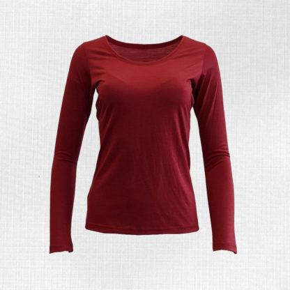 Dámske merino tričko Litava - červená