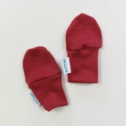 Detské vlnené 100% merino rukavičky - malinové