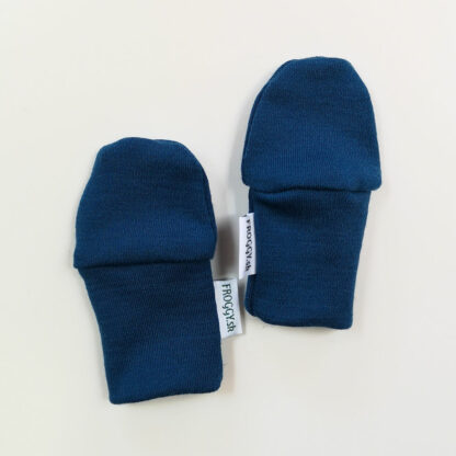 Novorodenecké merino rukavičky - modré