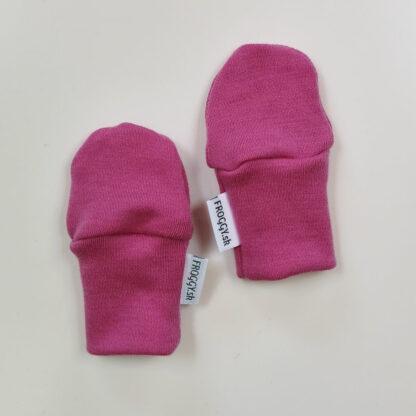 Rukavičky pre deti 100% merino - ružové