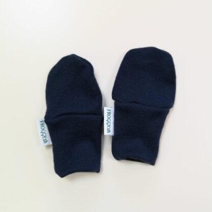 Detské rukavičky z merino vlny - tmavomodré