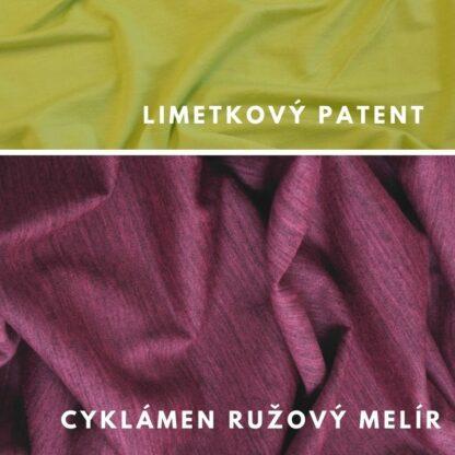 Merino kombinacia cyklámen ružový melír - limetkový zelený