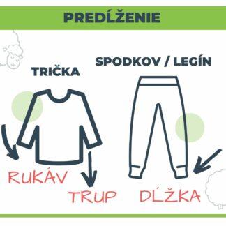 Predĺženie merino oblečenia