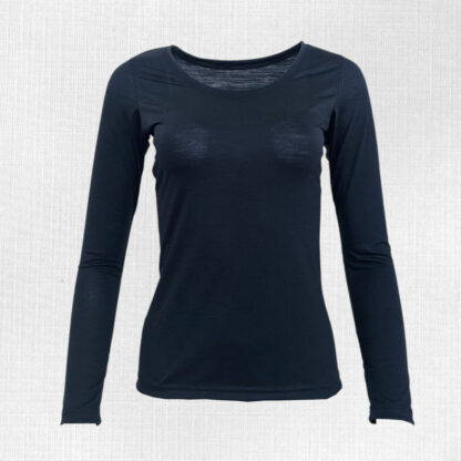 Pohodlné dámske merino tričko Litava s dlhým rukávom