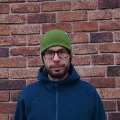 merino ciapka skalka zelena zpredu