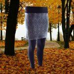 termo sukňa z merino vlny zimná