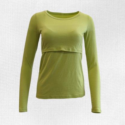 Dámske merino tričko Kotmanová - limetková zelená