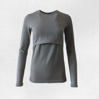 Elastické kojacie tričko z merino vlny