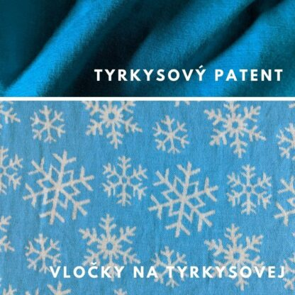 merino Vločky na tyrkysovej - tyrkysové patenty