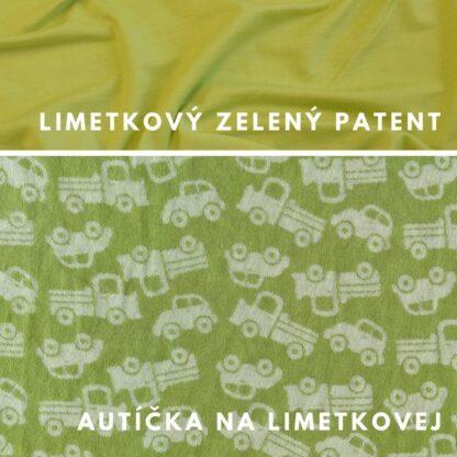 merino autíčka na limetkovej zelenej - limetkové zelené patenty