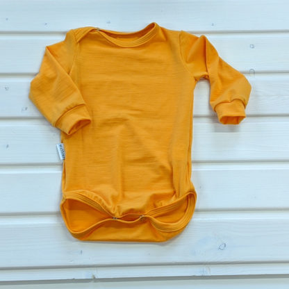 Detské merino body Bacúch oranžovožlté