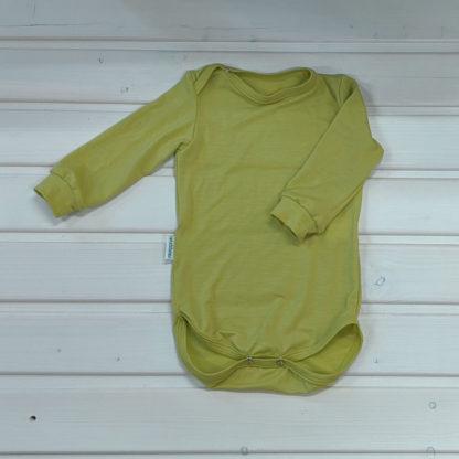 Detské merino body Bacúch limetkovo zelené